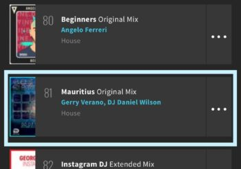 Mauritius entered into the Beatport House Hype TOP 100